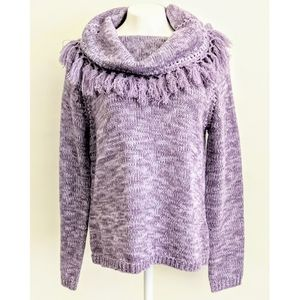Norton McNaughton Women's Lilac Cowl Neck Sweater
